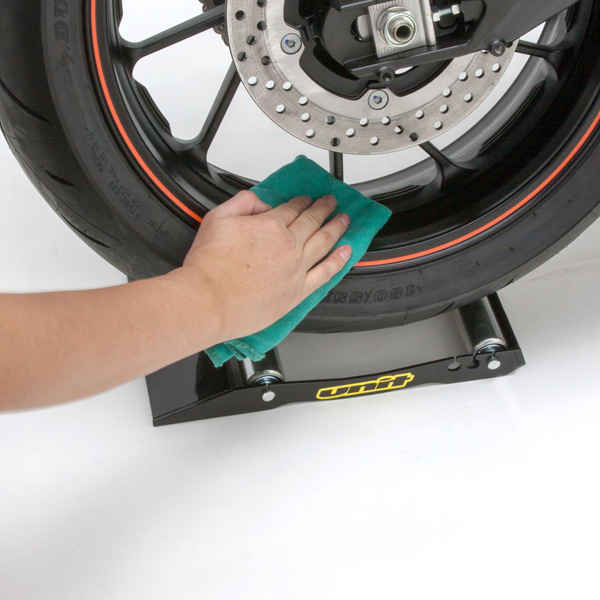 how to clean motorcycle wheels